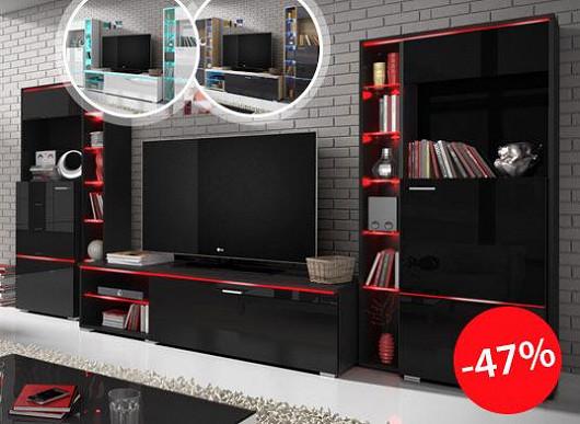 Může obývací stěna jen tak měnit barvy? Může, a koupíte ji s téměř poloviční slevou