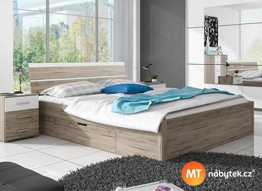 2 velikosti, různé matrace, úložný prostor. Vylaďte si postel na míru za super cenu