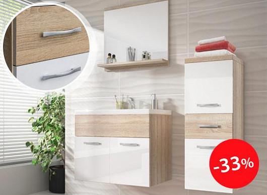 Nenechte vlhkost ničit vaši koupelnu. Pověste si skříňky na zeď a vydrží vám mnohem déle