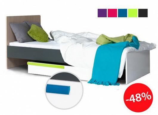 Prostorná, pohodlná i praktická. Ideální postel pro všechny mladé a školou povinné