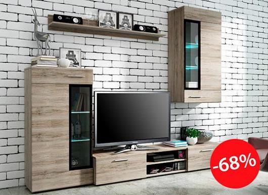 Praktická, oblíbená a za neskutečnou cenu – stěna, jakou chcete mít v obýváku i vy