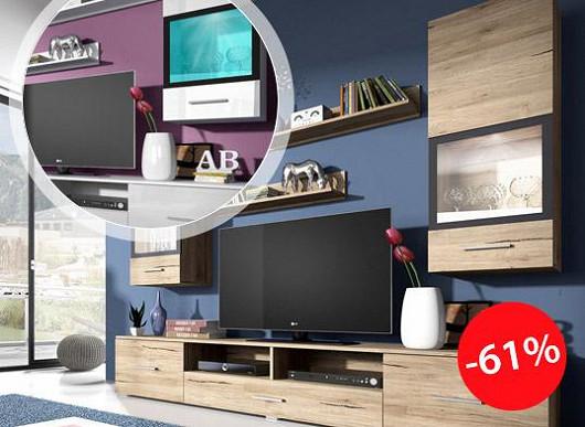 Pozor, super pecka! Impozantní obývací stěna vás teď přijde jenom na třetinu ceny