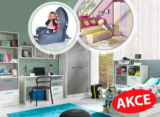 Obrovský výběr + nespočet tvarů a barev + perfektní ceny = království dětského nábytku