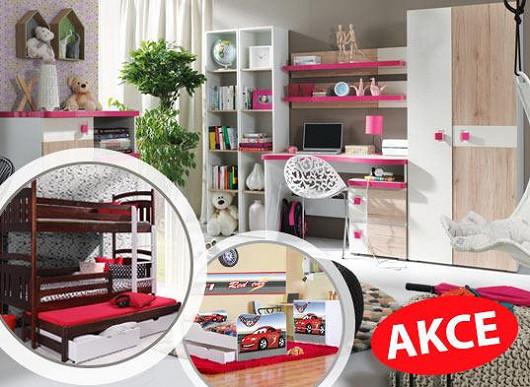 Přes 500 modelů nábytku do dětských pokojů v tisících variantách. Zajásají holky i kluci