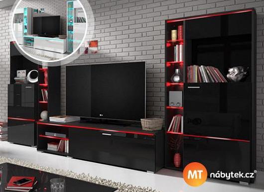 Udělejte dojem obývací stěnou s LED osvětlením