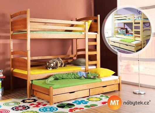Neochuďte děti o místo na hraní. S postelí 4 v 1 zařídíte pokojíček nanejvýš účelně