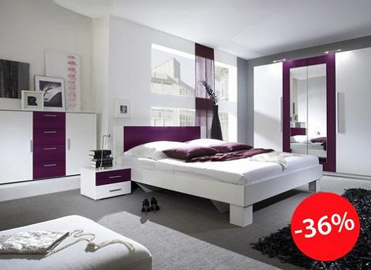 Praktická něžná ložnice se super slevou. Vychutnejte si ve dvou hezčí noci i rána