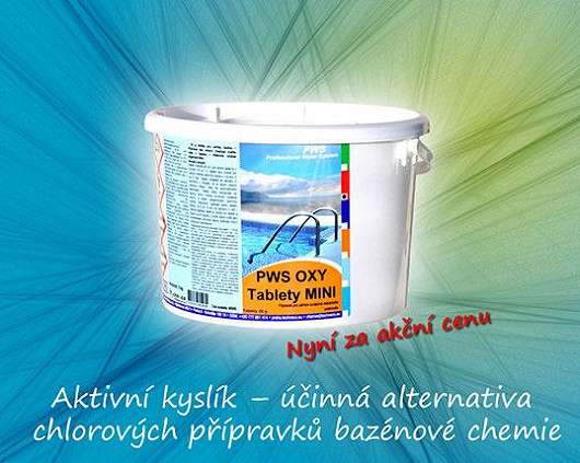 Aktivní kyslík – účinná alternativa chlorových přípravků bazénové chemie