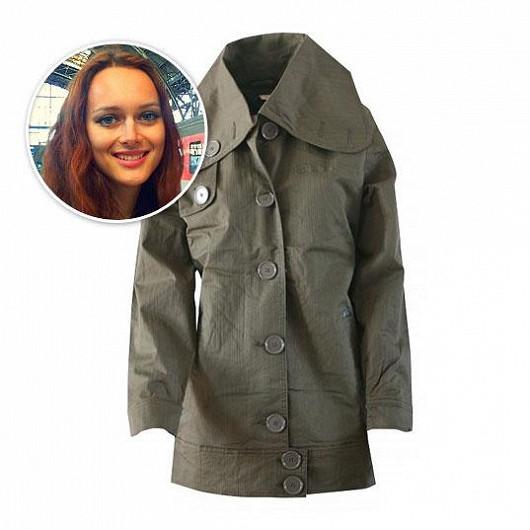 Dámský khaki kabátek Fundango