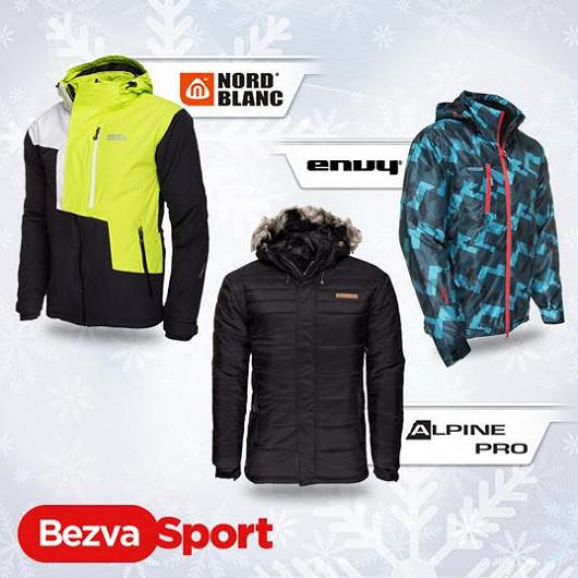 Sportovní pánské zimní bundy s vysokou odolností
