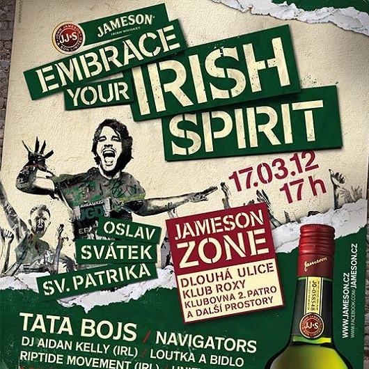 Oslav svátek Sv. Patrika s Tata Bojs a irskou whiskey Jameson!
