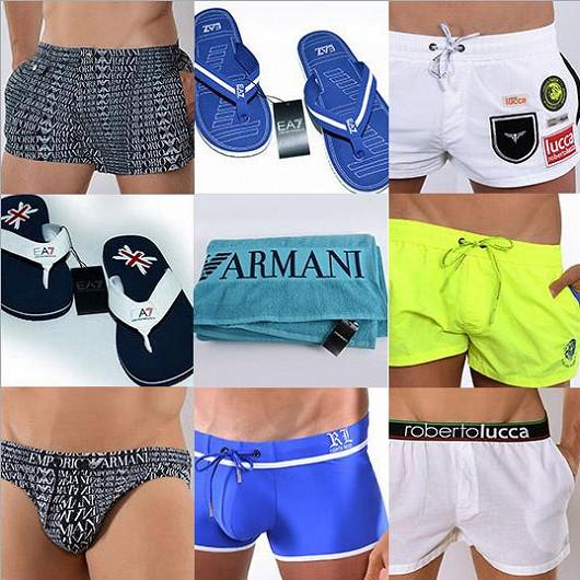 Výprodej špičkových modelů 2014 pánské módy a plavek v módním domě DESSUE!
