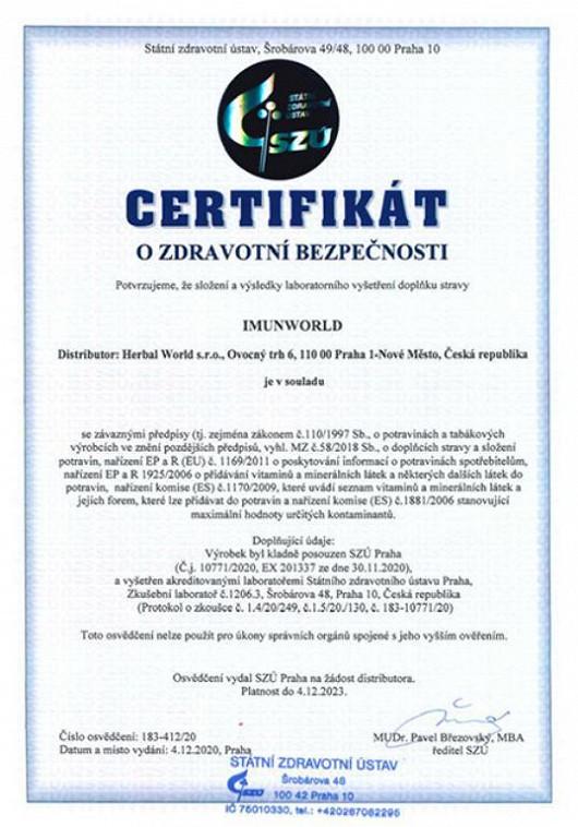 Certifikáty bezpečnosti