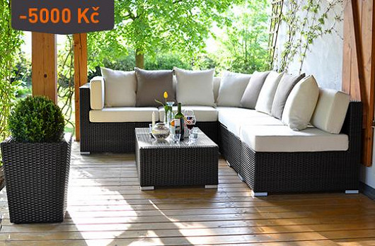 Když milujete černou a bílou. Zahradní sedačky nyní za super cenu!