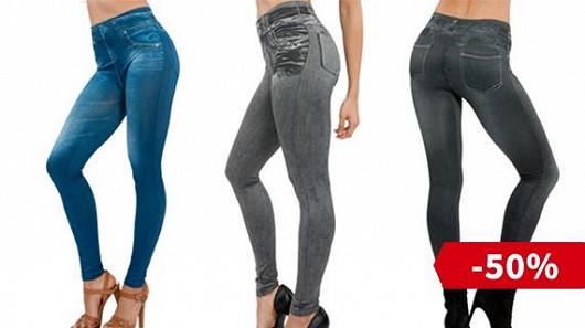 Tři kusy jeansových legín za 499 Kč vč. poštovného!