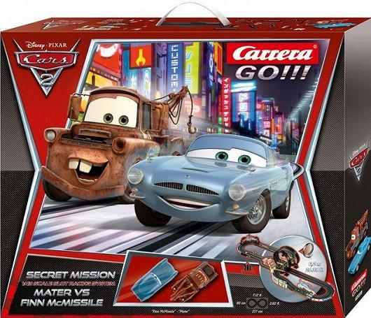Závodní autodráha Secret Mission s autíčky podle filmu Cars 2 (Carrera)