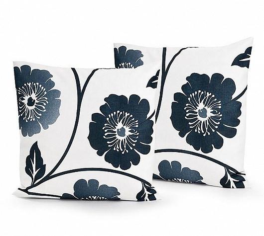 Černobílé dekorační polštářky, sada 2 kusů