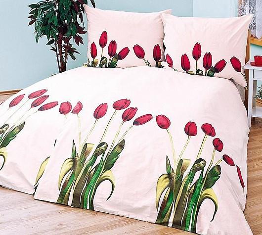 Bavlněné povlečení Tulipány – sleva až 40 %