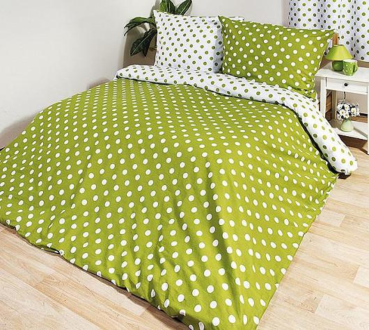 Bavlněné povlečení Zelený puntík