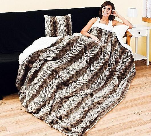 Elegantní beránková deka se slevou 33 %