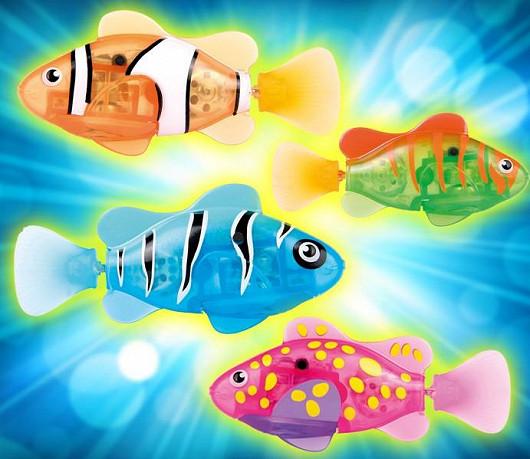 Kupte robo rybu s akváriem, hradem a korály