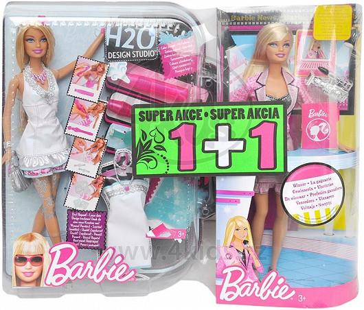 Panenka Barbie H2O Design studio s druhou panenkou Barbie TV moderátorka zdarma (Mattel)