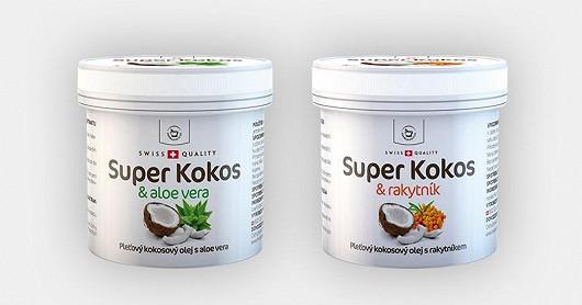 Super Kokos s aloe a Super Kokos s rakytníkem