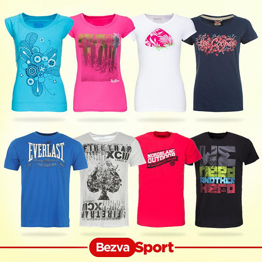 Vyberte si z široké nabídky triček pro pány i dámy. Naše nabídka s až 80 % slevou Vás ohromí.