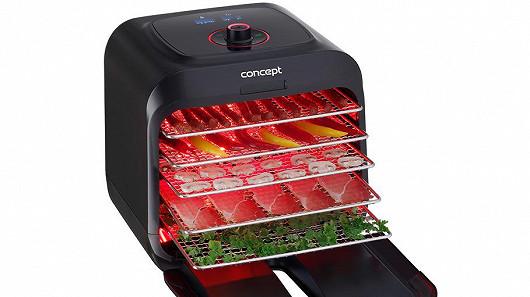 Sušička potravin s infrazářením Concept SO4000 perfektně suší maso
