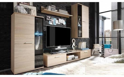 Moderní čisté linie v obývacím pokoji