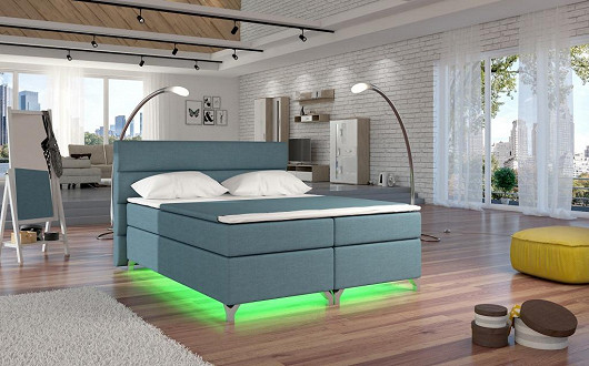 Designová lahůdka, to je postel Amadeus s LED podsvětlením