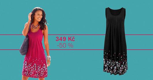 Dámské květinové šaty Sahiri – SLEVA -50 %