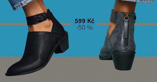 Dámské kotníkové boty na podpatku Glacina – SLEVA -50 %