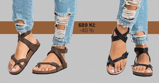 Dámské sandály s korkovou podrážkou Sanaa – SLEVA -40 %