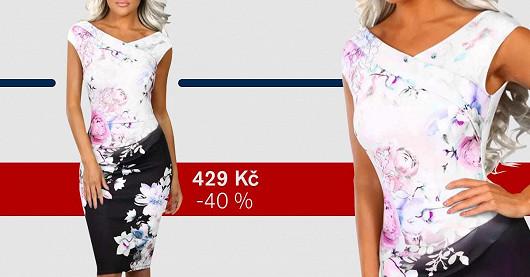 Dámské květované šaty Pauliwa – SLEVA 40 %