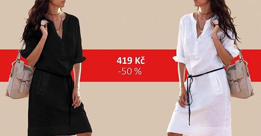 Dámské košilové šaty Patrika – SLEVA -50 %