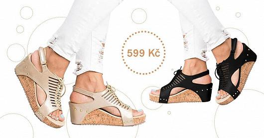 Sandály na platformě s vázáním Mikello – SLEVA 40 %