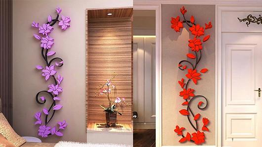Stylové 3D dekorační květiny se slevou 70 %