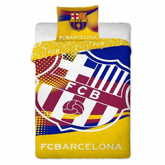Bavlněné povlečení FC Barcelona Yellow