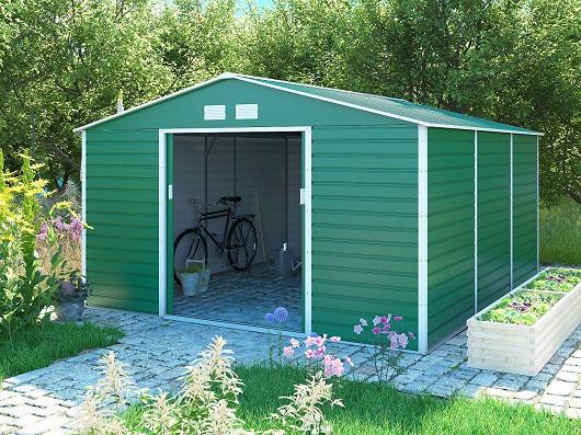 Zahradní domky z ocelového plechu = domky s dlouhou životností