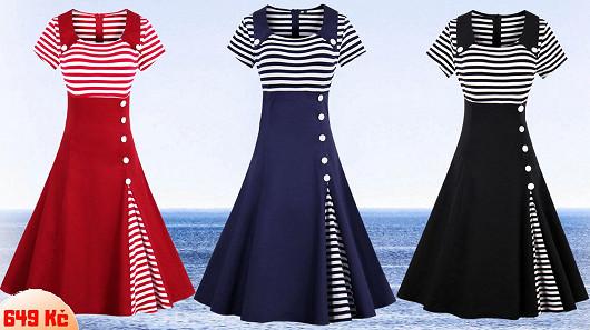 Námořnické retro šaty