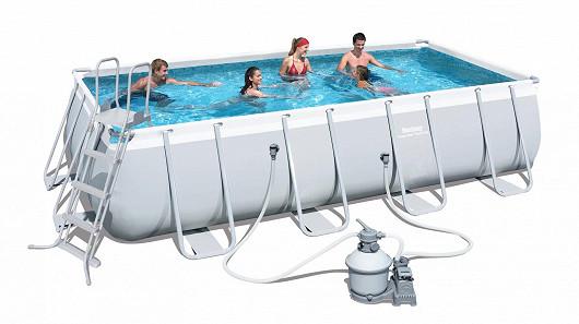 Bazén s konstrukcí obdélníkového tvaru