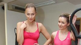 Renata Langmannová s cvičitelkou Janou Mrázkovou.