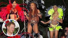 Princ Harry se během návštěvy ostrova Antigua několikrát červenal...