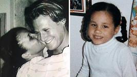 Meghan Markle jako dítě a na snímku s jejím bývalým mužem.