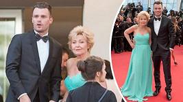 Mareš se svou maminkou v Cannes.