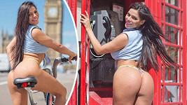 Suzy Cortez provokovala obyvatele Londýna.