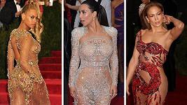 Beoyncé, Kim Kardashian a Jennifer Lopez na galavečeru v Metropolitním muzeu umění v New Yorku.