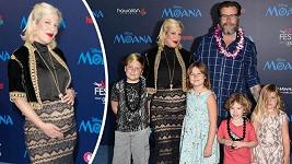 Tori Spelling se svou početnou rodinou