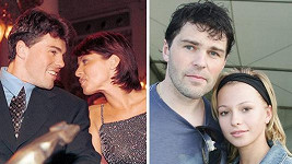 Jaromír Jágr s Nicol Lenertovou v roce 1999 a s Innou Puhajkovou v roce 2007
